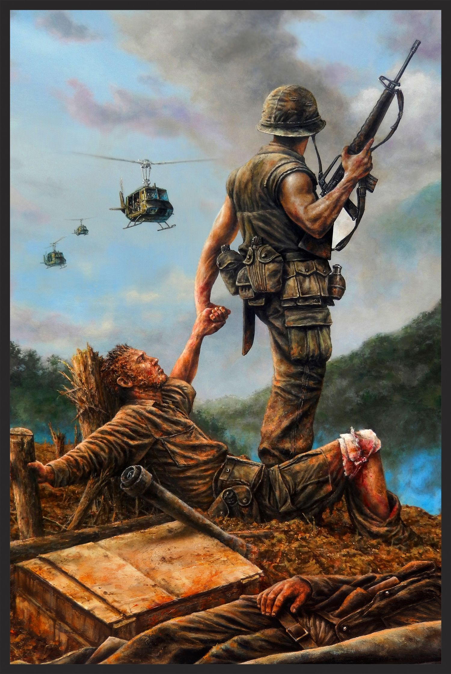 Brothers In Arms Military Drawings Vietnam War Military Artwork