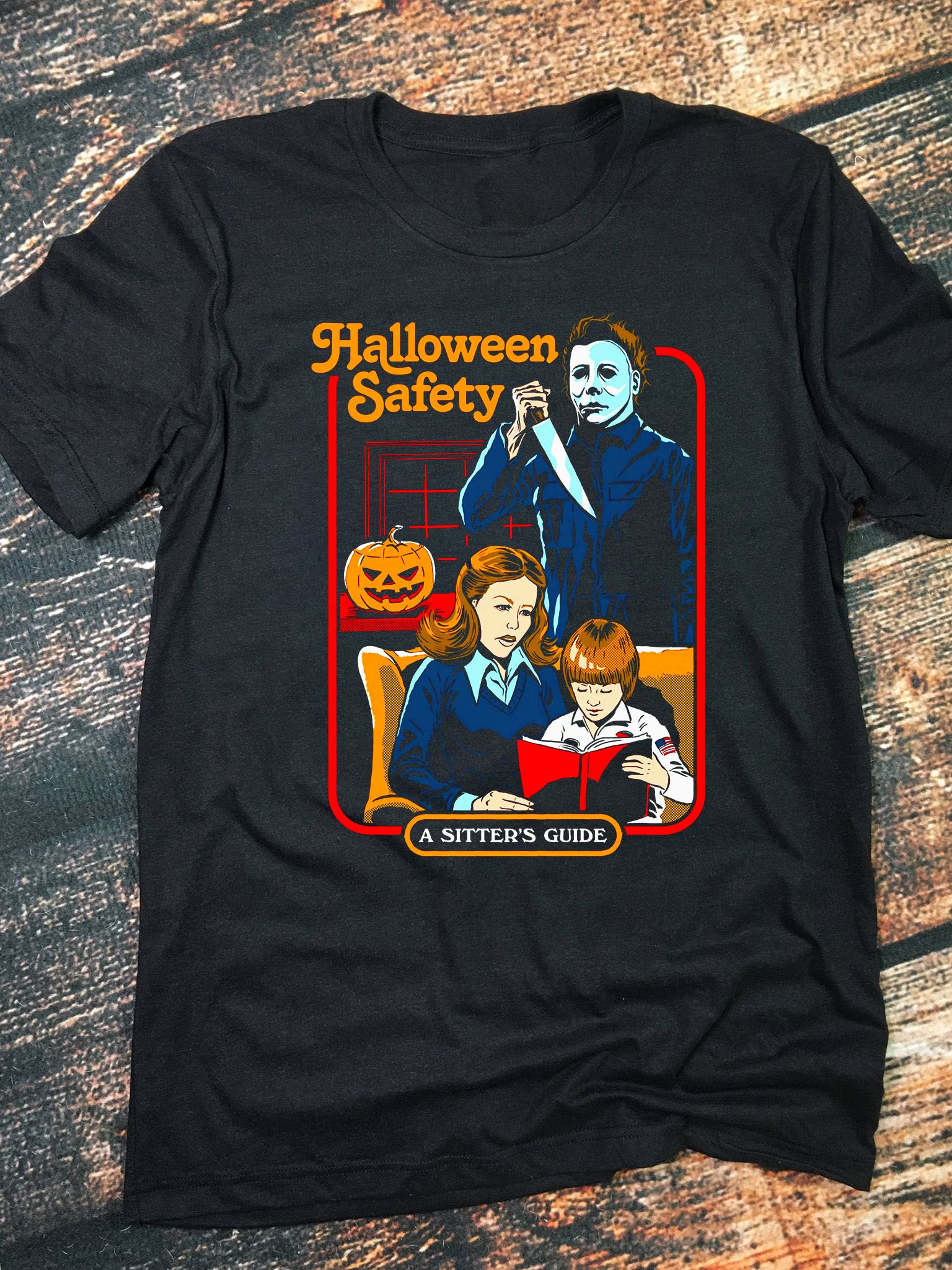 Michael Myers Halloween Safety A Sitter's Guide Women's T