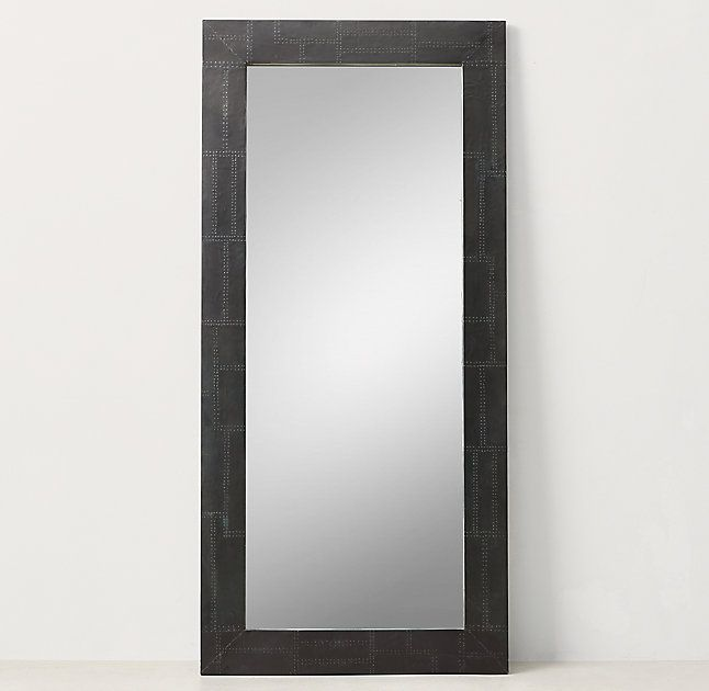 Industrial Metal Wrapped Leaner Mirror Iron Zerkalo V Polnyj Rost Zerkalo
