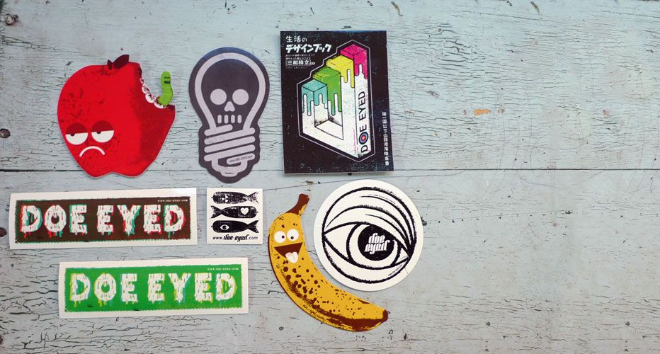 Stickerpacks include custom vinyl diecut stickers printed by those silkscreen sticker aficionados over at sticker robot