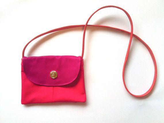 pink cross-over bag