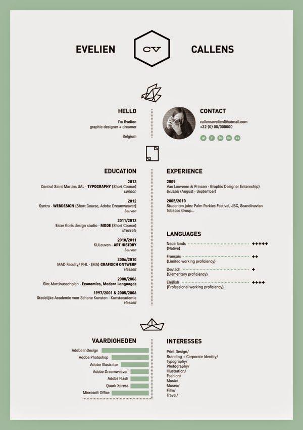 27 Contoh Resume Terbaik Cv Kreatif Desain Cv Personal Branding