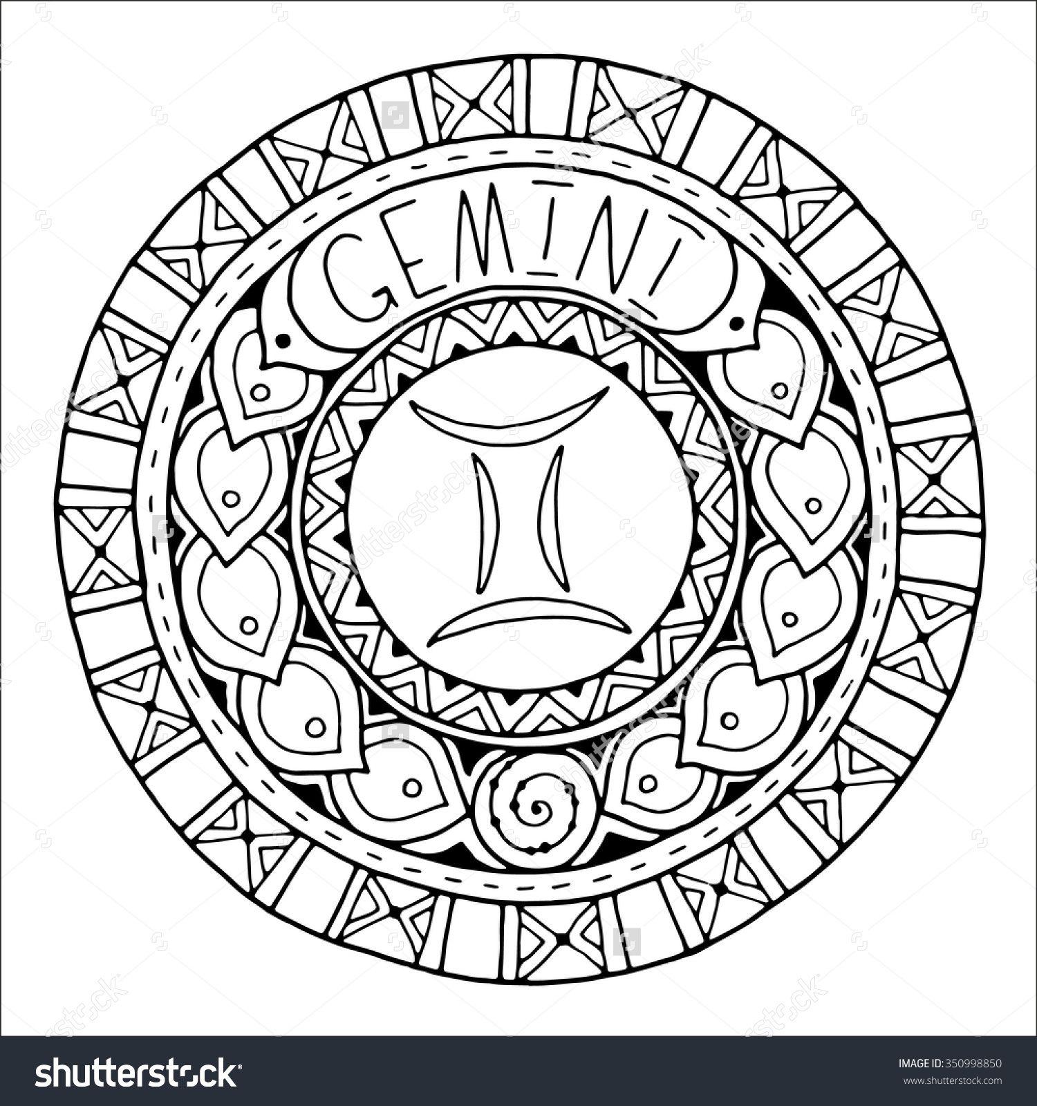 Zodiac Sign of Gemini : Shutterstock 350998850