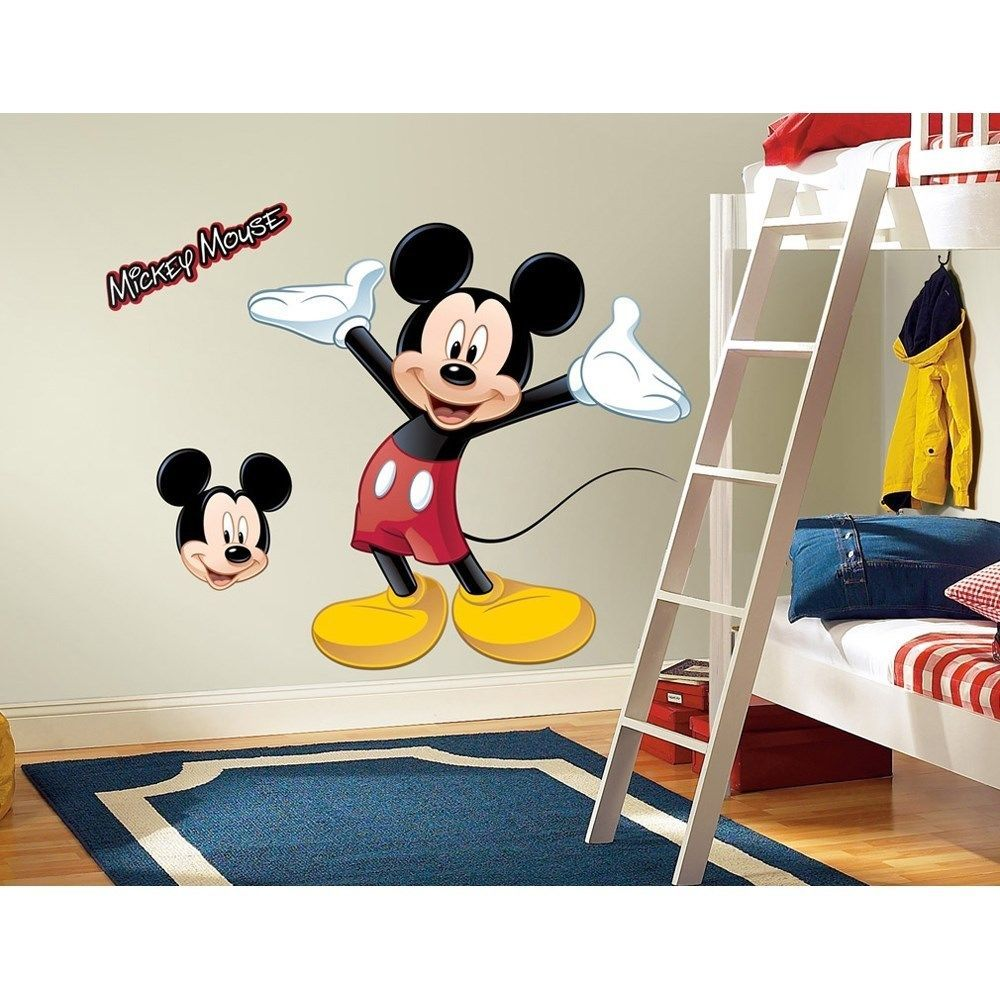 New Giant Mickey Mouse Wall Decal Disney Bedroom Stickers Kids Room Decals Decor Home Garden S At Playroom Dorm Décor