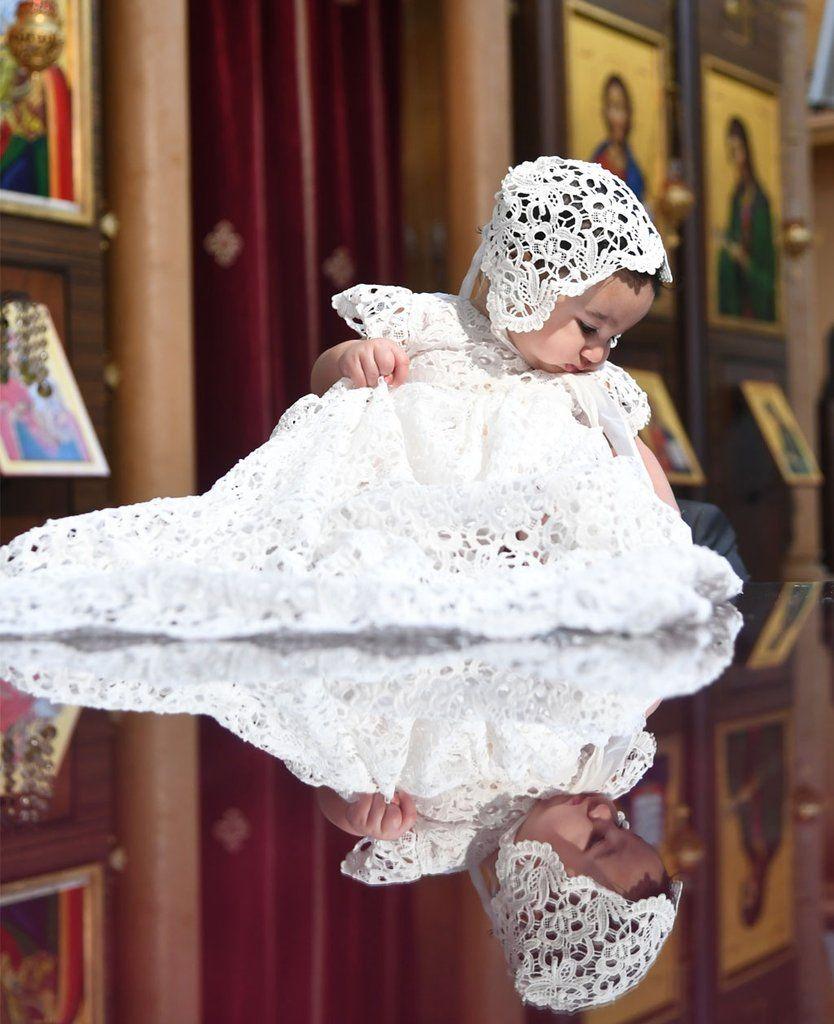 923b6298 Zoya's Baptism in Lebanon | Lola Christening Gown & Bonnet ...