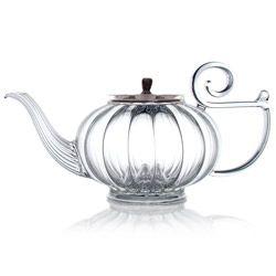 Blown glass teapot