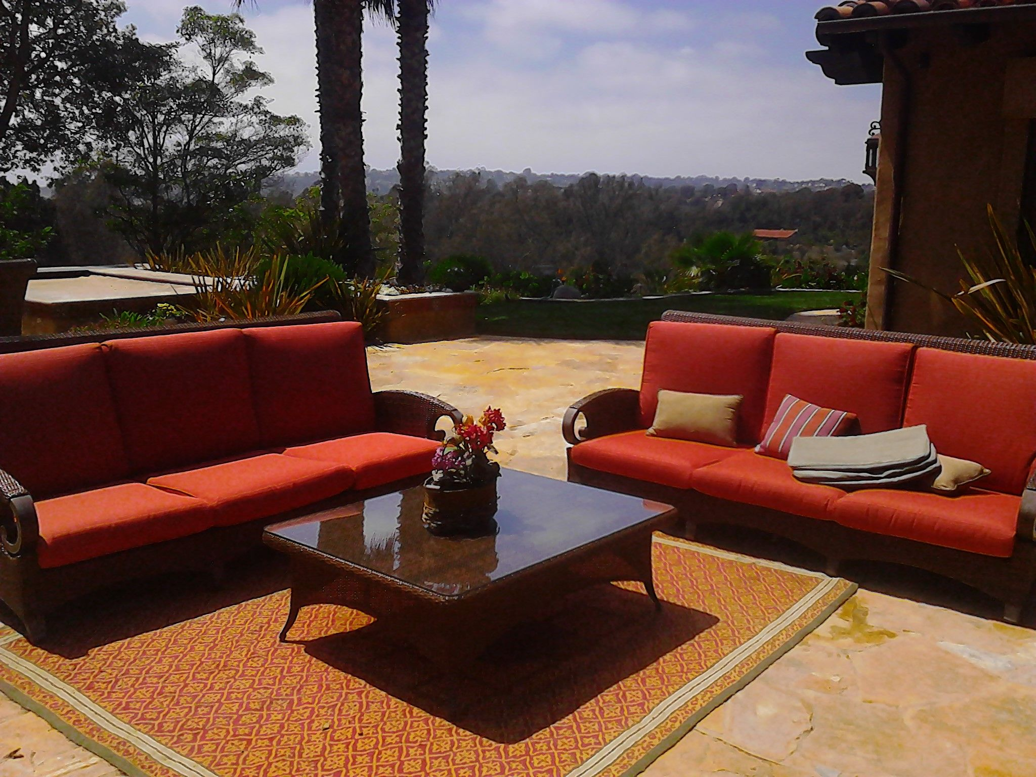 Outdoor living with a view made much more fun with custom made