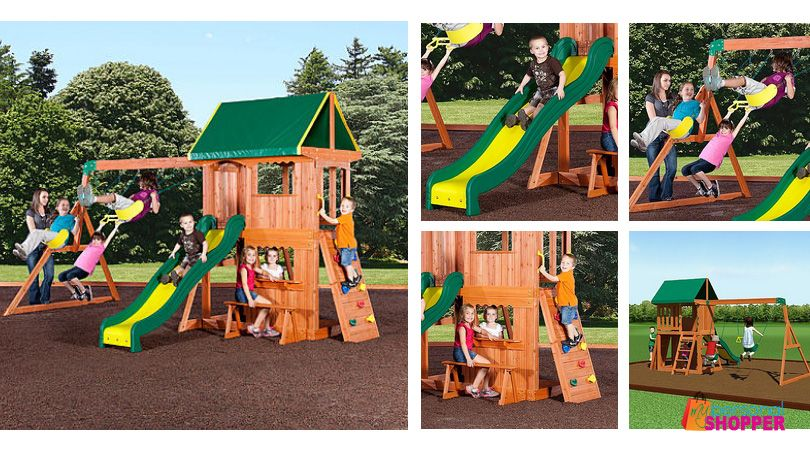Backyard Discovery Somerset Wood Swing Set As Low As 416 Was 600