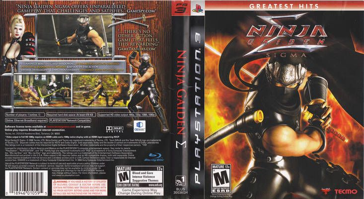 Ninja Gaiden Sigma Playstation 3 Cover Free Covers