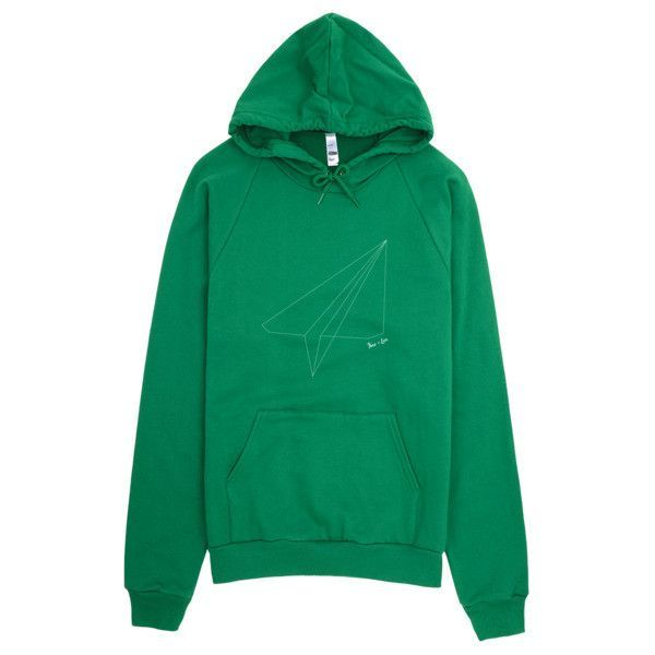 Pullover Hoodie Graphic Sweatshirt 'Paper Airplane'