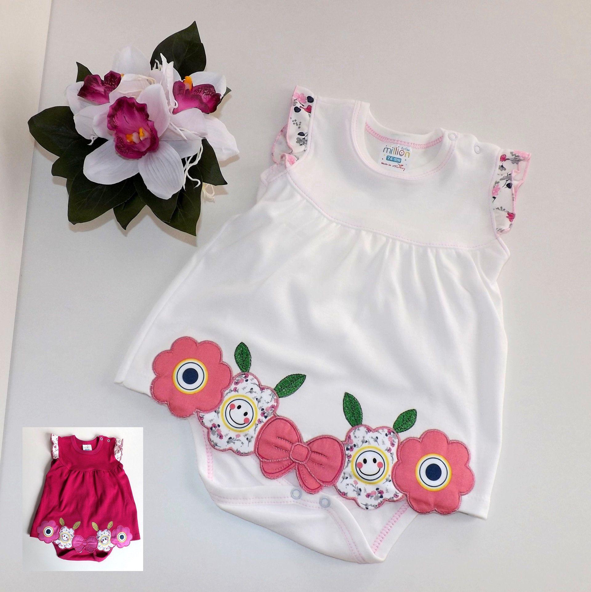 100% authentic a9f7f 20ab3 Baby Mädchen Sommerkleid Kleidchen Bodykleid Baby Tunika ...