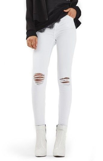 e5d3cc8924a Women's Topshop Jamie Ripped Skinny Jeans #add | Divine Fashion in ...