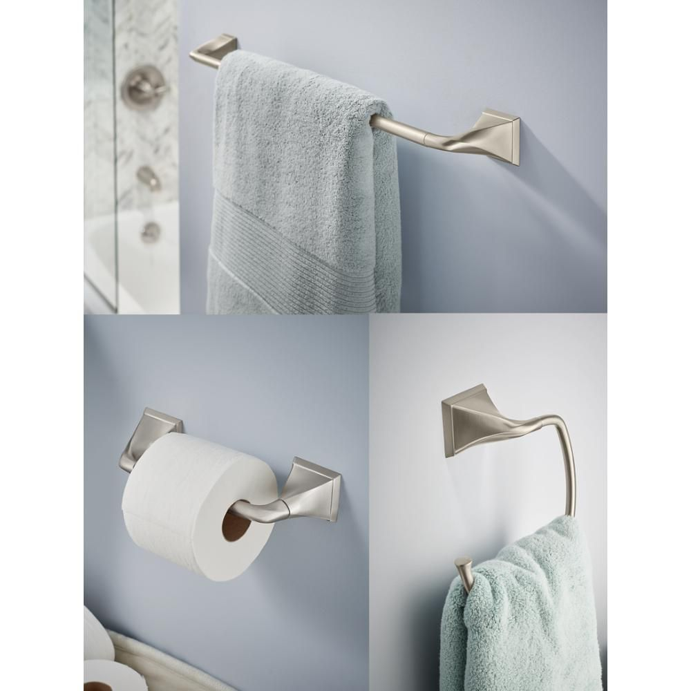 Delta Everly 3 Piece Bath Hardware Set With Towel Ring Toilet