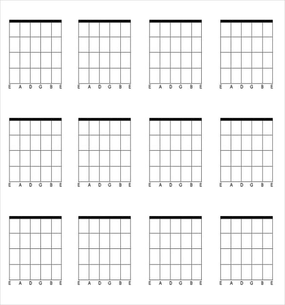 Image result for free guitar chord blank chart | Air BnB ideas ...