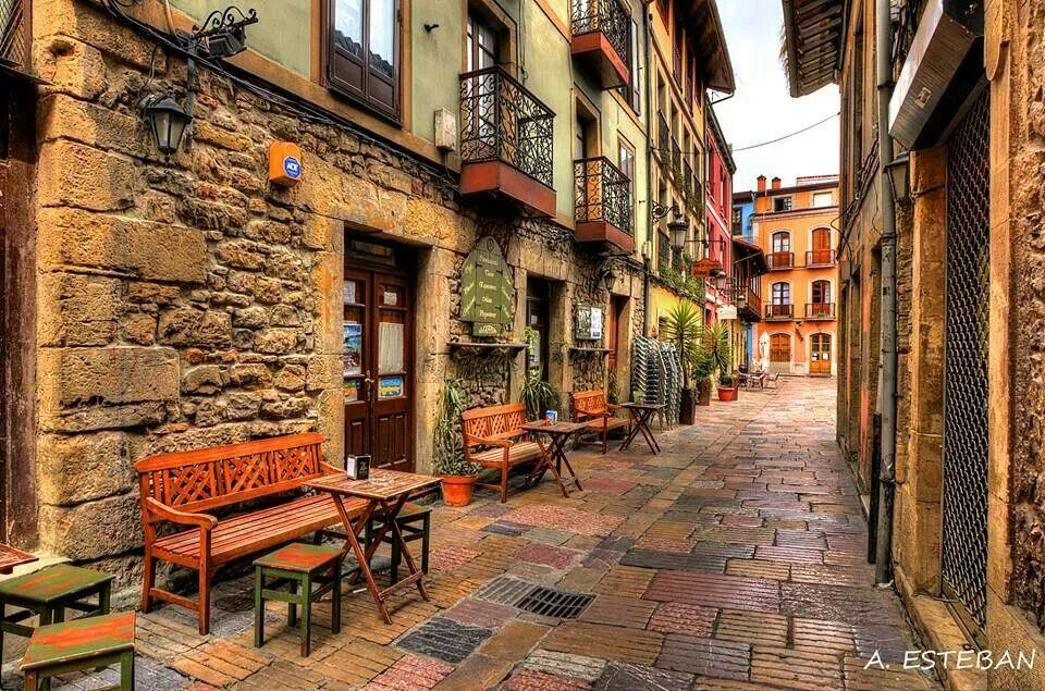 Calle del sol avil s asturias pinterest paisajes de espa a paisajes y calle - Hoteles en salinas asturias ...