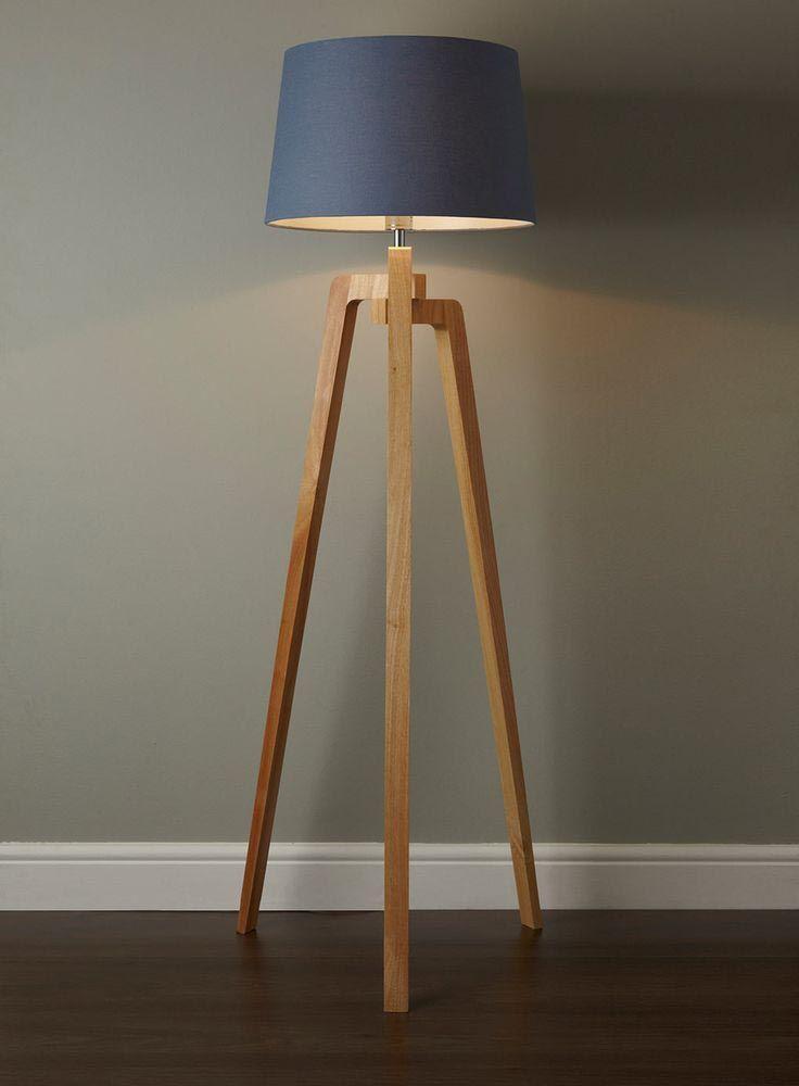 Antique Wooden Floor Lamp Lampu Lantai Lampu Desain