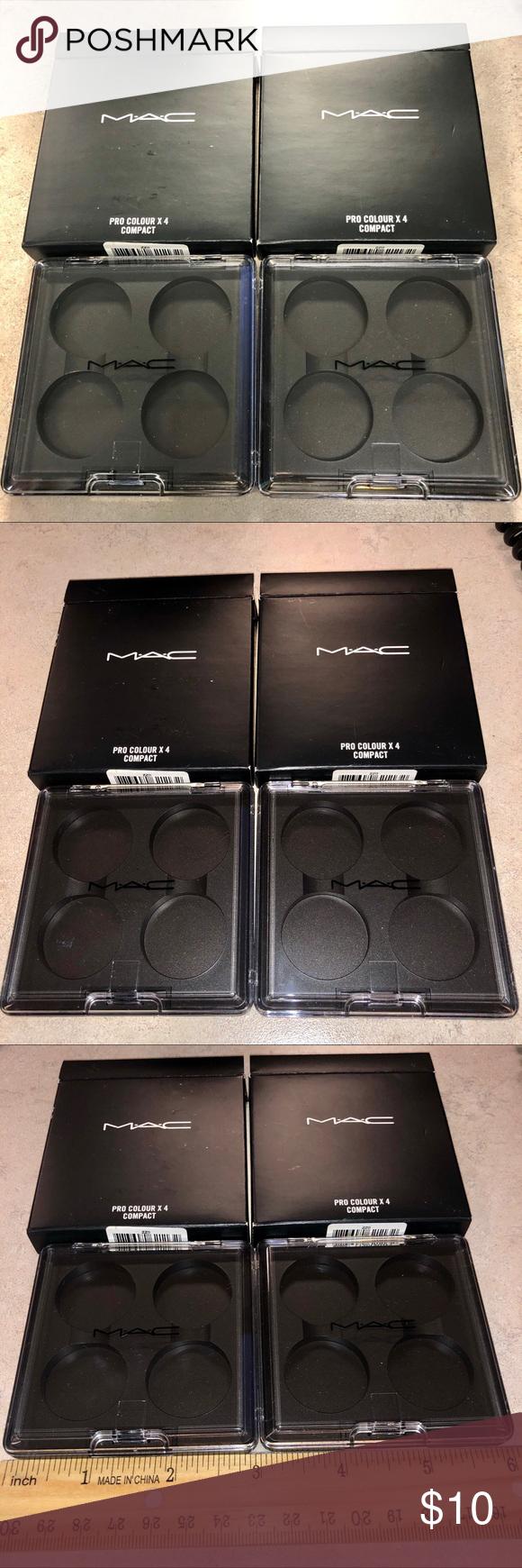 Mac Cosmetics Pro X4 Empty Eyeshadow Pan Lot Of 2 Mac Cosmetics Empty Eyeshadow Palette Eyeshadow Pans