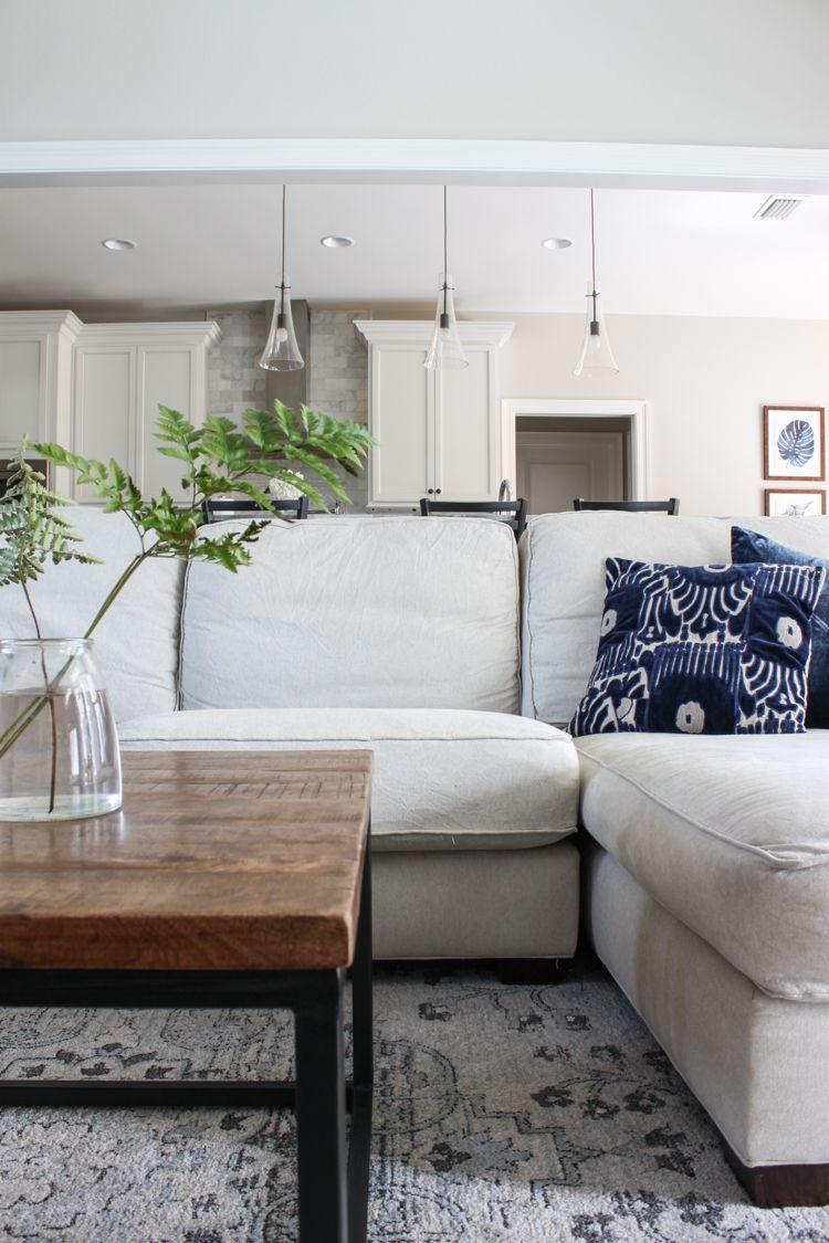 Boho Chic Living Room Reveal - Design c/o Havenly | Fiddle fig ...