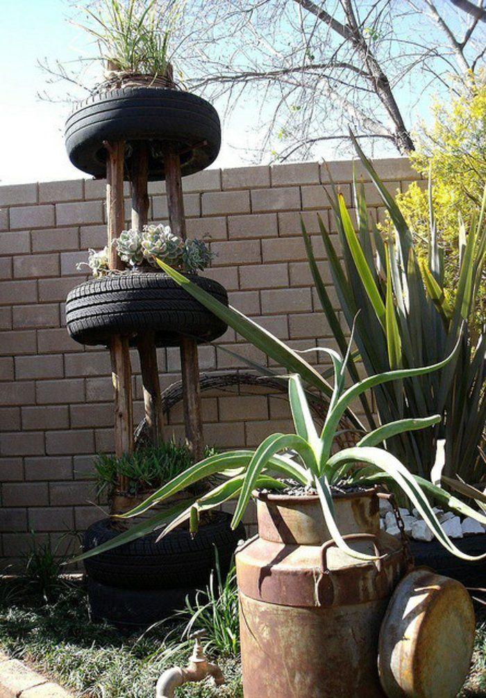 Gartendeko Selber Machen   Finden Sie Eine Coole Anwendung Der Alten  Autoreifen In Ihrem Garten. Heute Ist Man So Kreativ, Dass Man Aus Alten  Autoreifen .