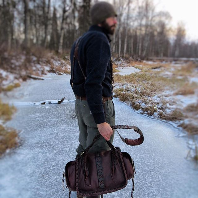 When the road to adventure is long and frozen...**AVAILABLE now @ deepwoodsleather.com**