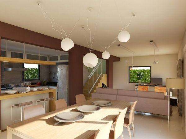 Living comedor cocina modernos tiempos de cambio for Decoracion comedor moderno