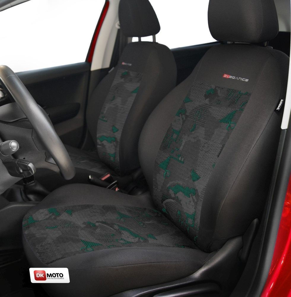 2 X Car Seat Covers Pair For Front Seats Fit Vw Caddy Charcoal