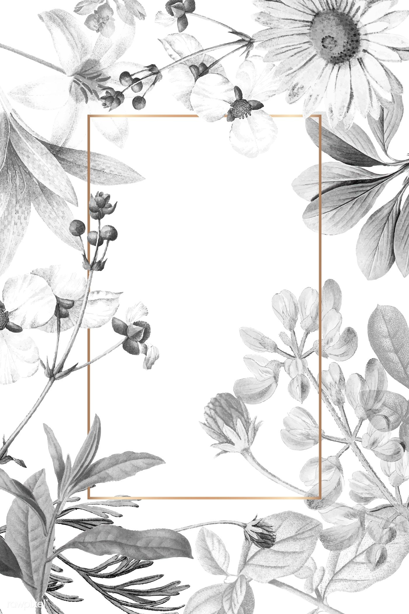 Download Premium Vector Of Blank Floral Frame Design Vector 1201138 Abstract Wallpaper Backgrounds Flower Background Wallpaper Frames Design Graphic