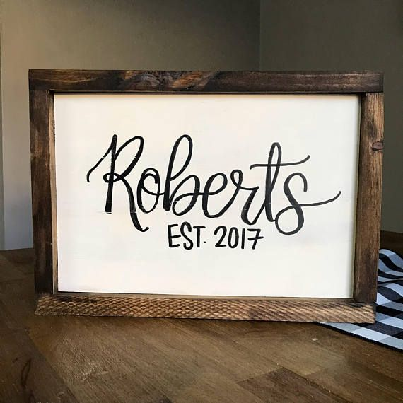 This customizable Name Sign features Last Name Est. YEAR | by ...