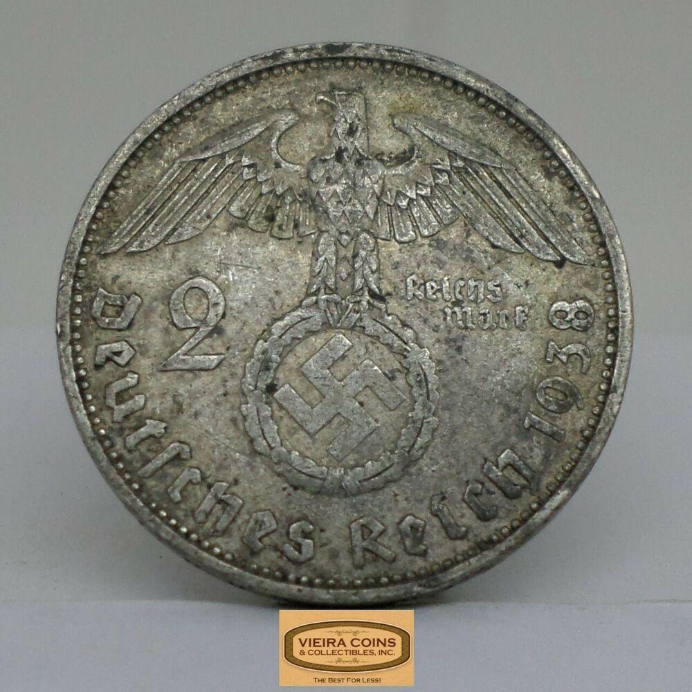 1847 1934 Germany Silver 2 Mark Paul Von Hindenburg B16508