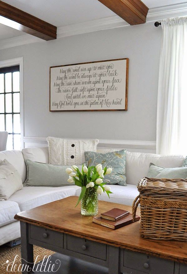 Wall Color Is Horizon In An Eggshell Finish Trim Simply White A Semi