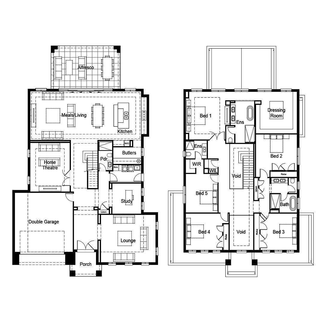 House Floor Plans On Instagram This Bespoke French Provincial Floor Plan Features Multiple Living Areas On The G Floor Plans House Floor Plans House Flooring