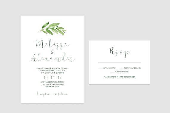 Tutaj Podoba Mi Sie Data Printable Minimalist Greenery Wedding Invitations Roma Fun Wedding Invitations Cheap Wedding Invitations Wedding Invitation Sets