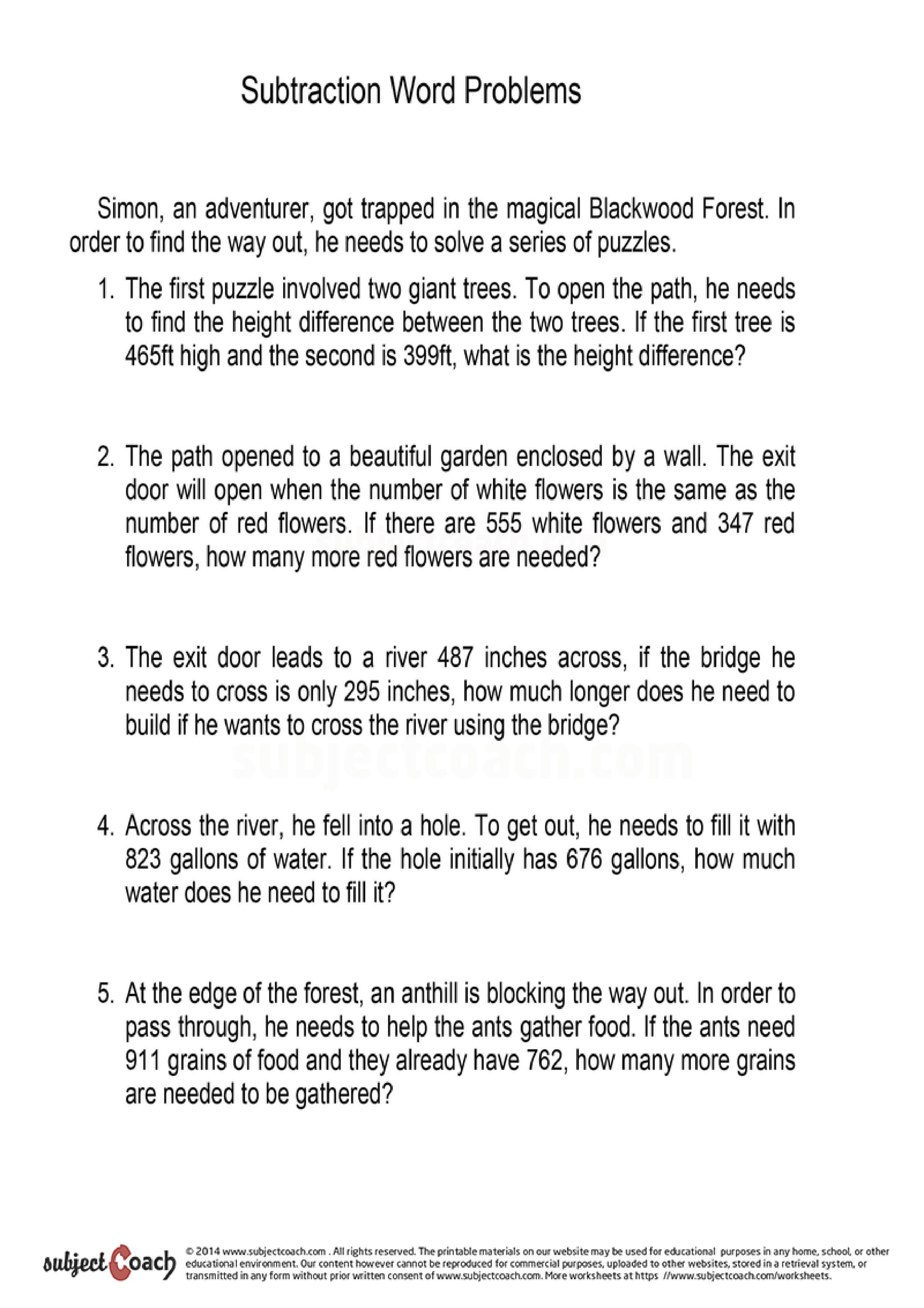 Math Worksheet For Year 3 Students Students Should Have A