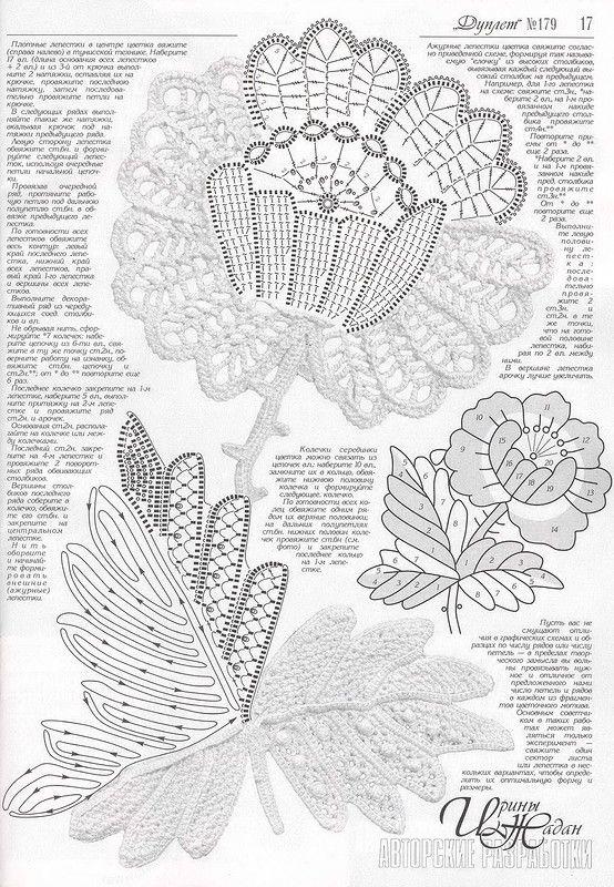 Дуплет 179-23 | Ирландское кружево | Pinterest | Crochet irlandés ...