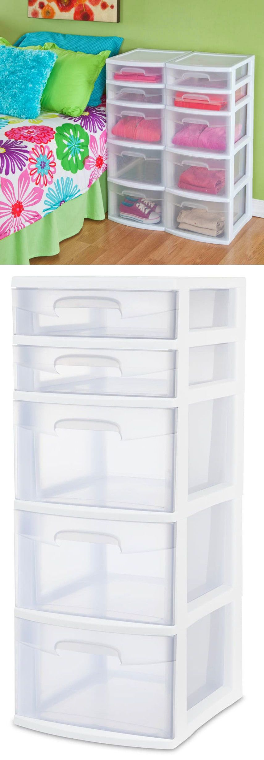 Storage boxes drawer tower plastic organizer home cabinet