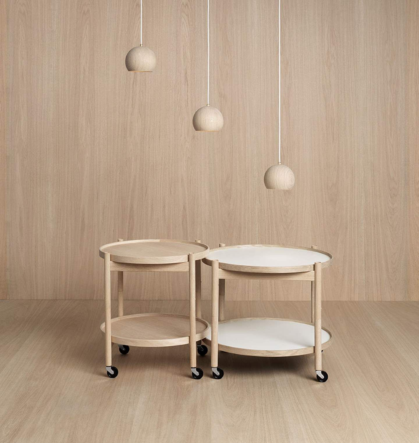 Lune Lamp And Hans Bølling Tray Table By Brdr. Krüger