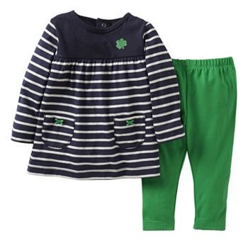 abc91a00bcc Carter s Striped Shamrock Tunic and Pants Set - Baby  Kohls