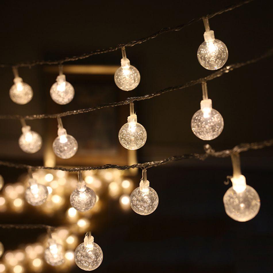 Decorative Light Balls 4M 40Pcs Leds Round Transparent Ball Diy Led String Light