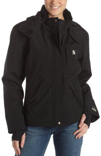 mayor descuento Página web oficial Calidad superior Amazon.com: Carhartt Women's Waterproof Breathable Jacket ...