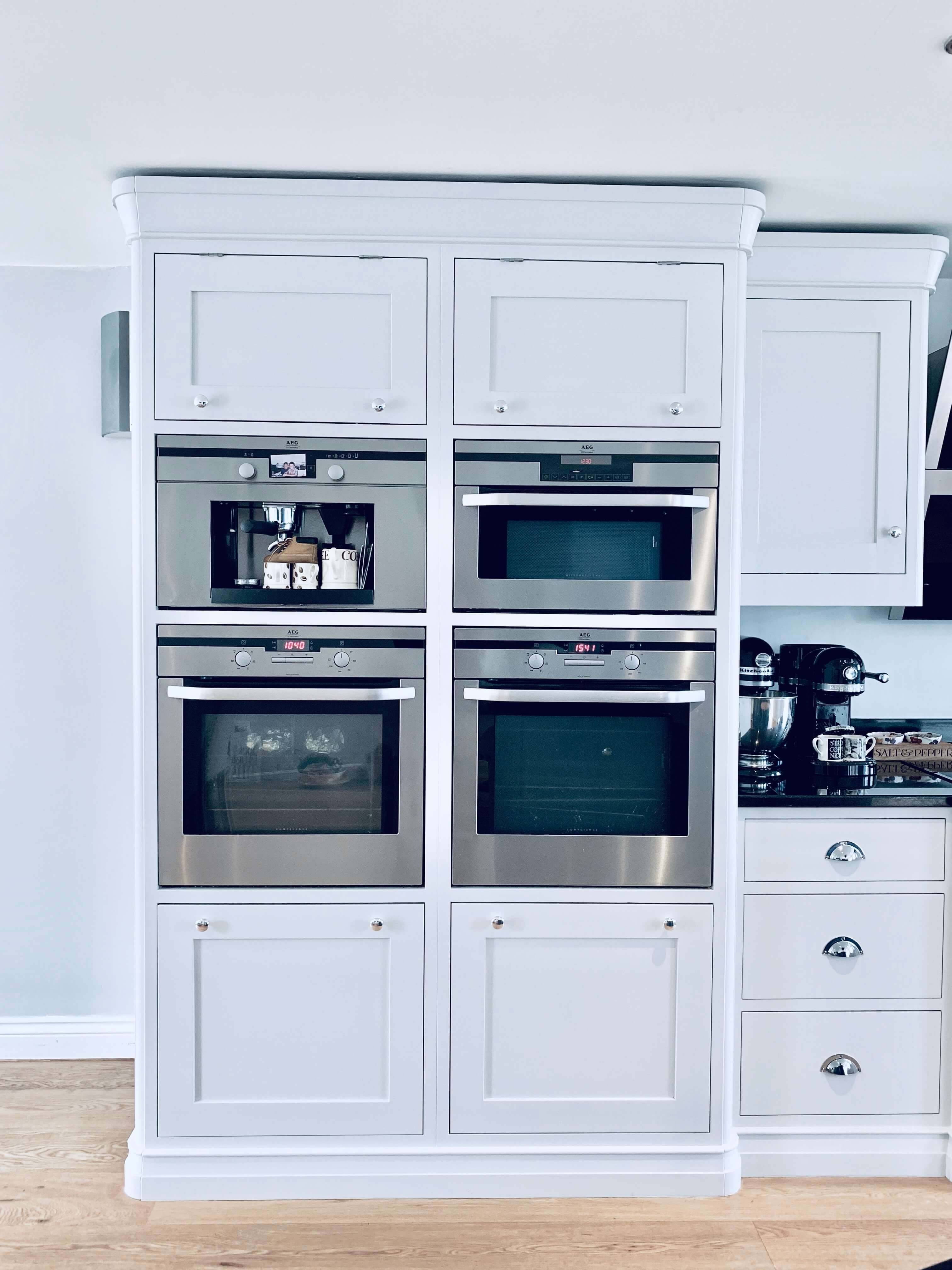 Best Tall Kitchen Cabinets Painted In Farrow Ball Ammonite 400 x 300