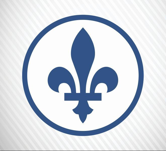 Quebec sign fleur de lis vinyl decal bumper sticker for car truck macbook laptop