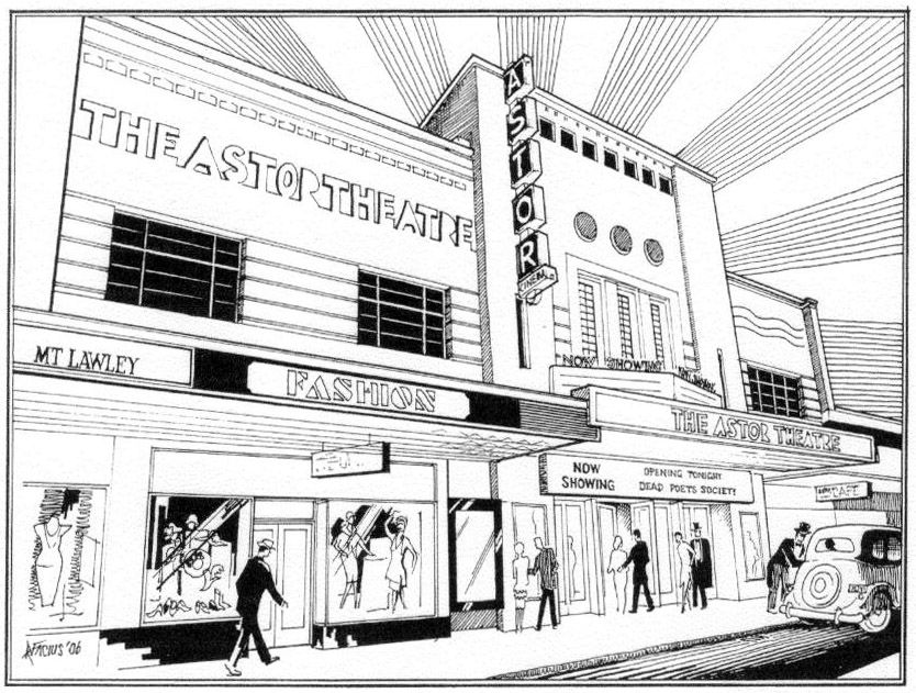 Astor Theatre Mt Lawley Refurbishing Architect William T Leighton 1939 Drawing By