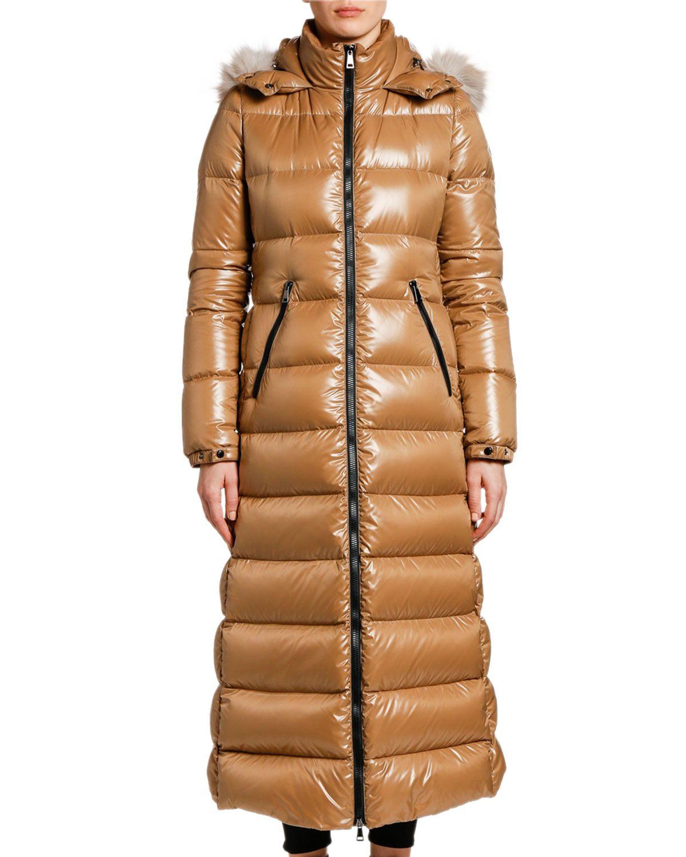 Moncler Hudson Long Puffer Coat W Fur Hood Long Puffer Coat Puffer Coat Moncler [ 1500 x 1200 Pixel ]