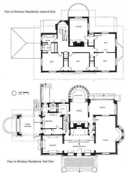 Wright Chat View Topic Winslow House Open House Winslow House Architectural Floor Plans House Floor Plans