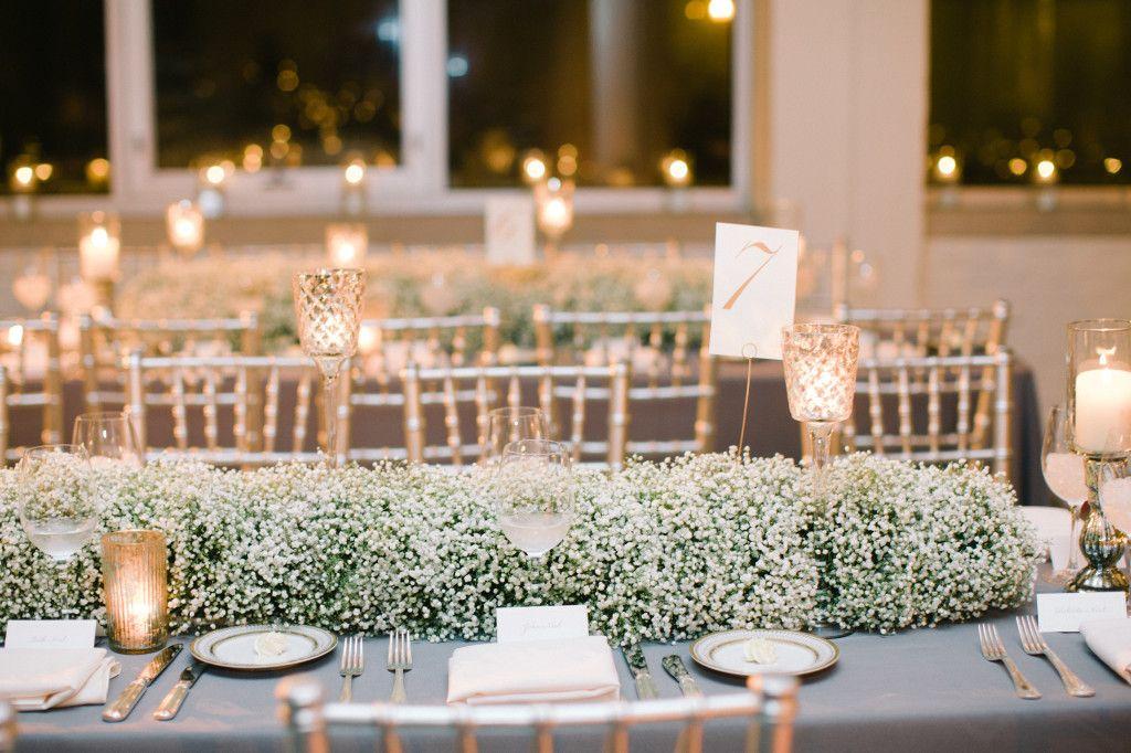 Pin By Fleur Inc On Fleur Flowering By Fleur Table Runners Wedding Wedding Table Babys Breath