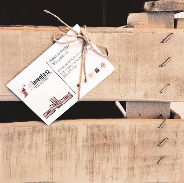cajas antiguas de fruta de madera, personalizada por REinventa12