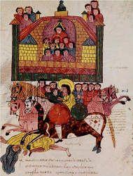 Biblia de San Isidoro de Leon, Biblioteca, Colegiata S. Isidoro, Leon, 960 - Death of Jezebel