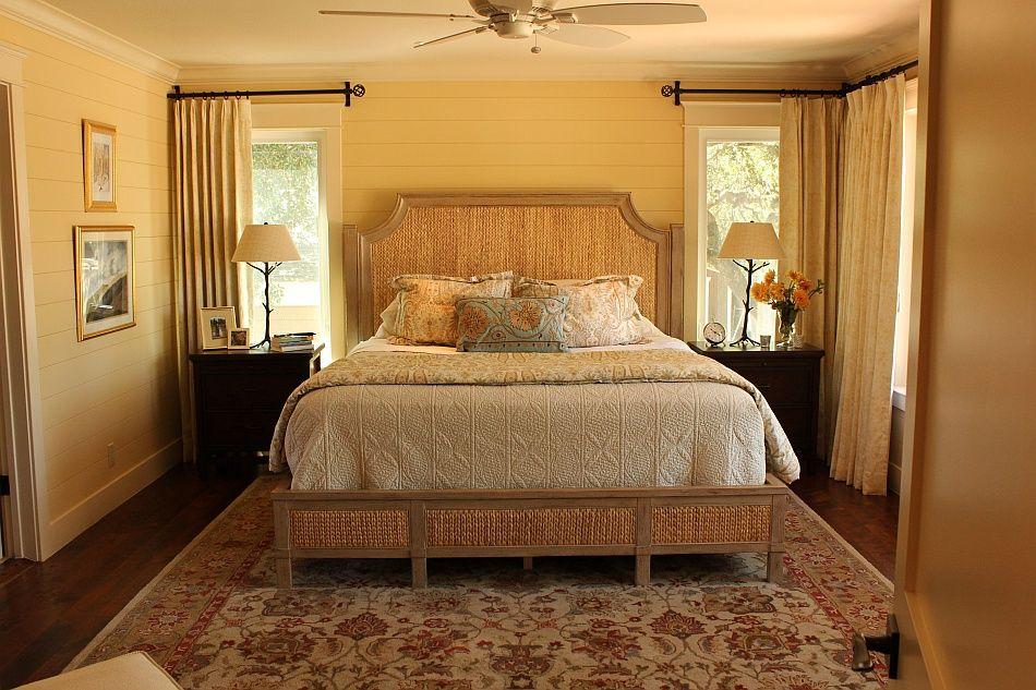 Master Bedroom Gold Walls craftsman color palette | craftsman style bedrooms | decor ideas