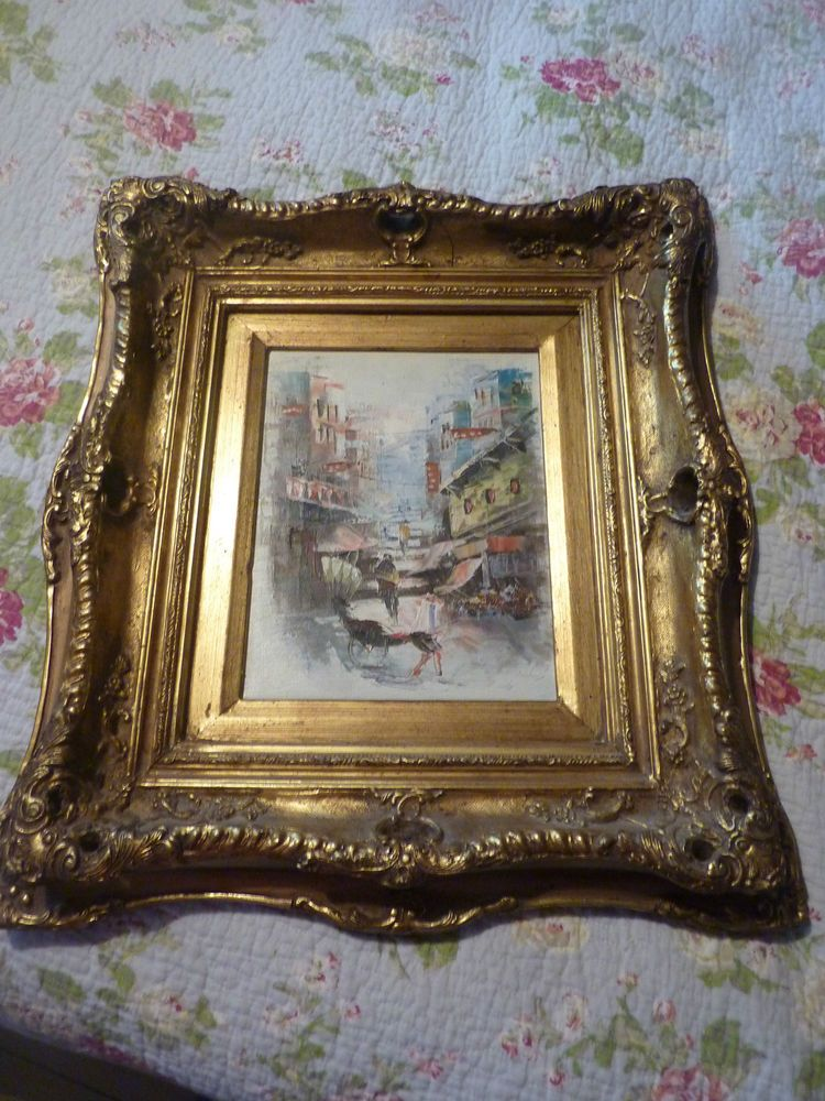 Large Heavy Ornate Gold Rococco French Fancy Frame And