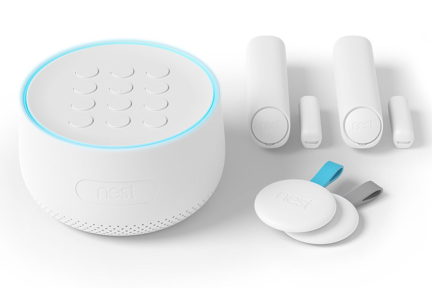 Includes Nest Guard Alarm Keypad And Motion Sensor 2 Nest Detect Sensors Sensors Th Security Cameras For Home Wireless Home Security Systems Alarm System